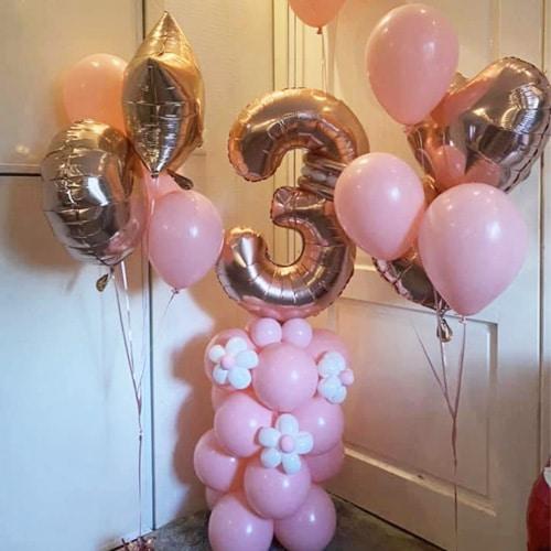 Verjaardag pilaar met leeftijd 1 cijfer