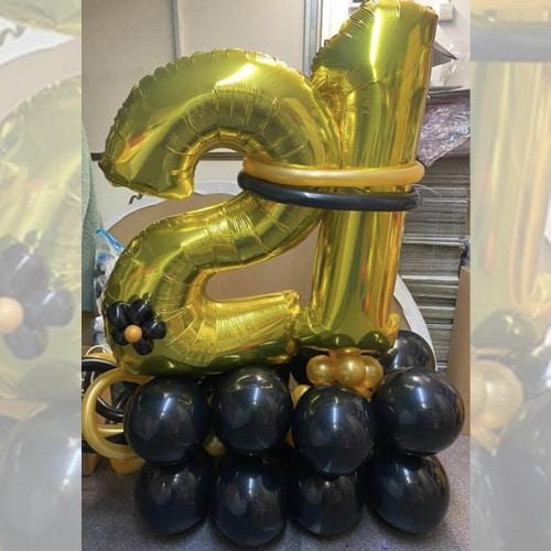 Verjaardag pilaar met leeftijd